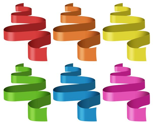 Ribbons in six different colors