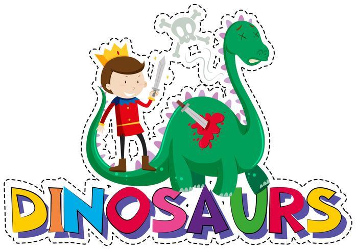 Design de palavras para dinossauros vetor