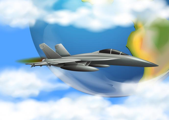 armé flygvapen på himlen