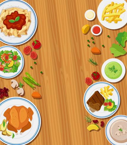 Set of meal concept vector