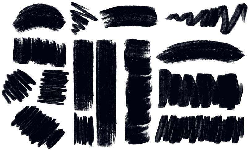 Diferentes trazos en color negro.
