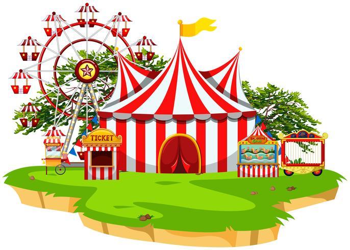 Carnival fun fair scene