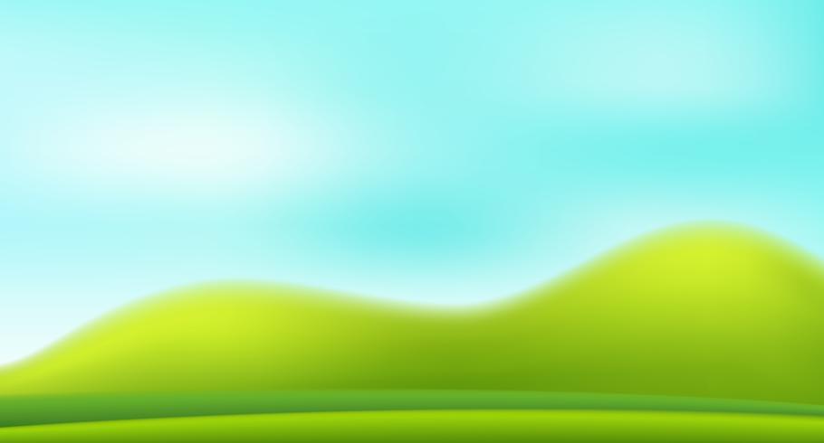 Um fundo verde natureza borrão