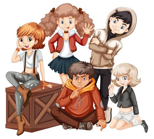 Grupo de jovem adolescente