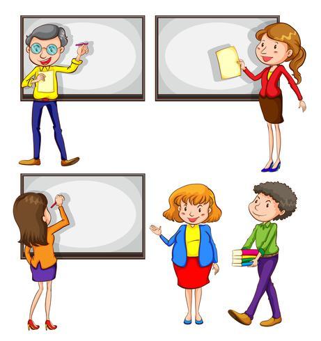 Professores masculinos e femininos