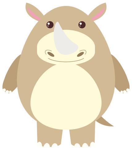 Nashorn mit glücklichem Gesicht