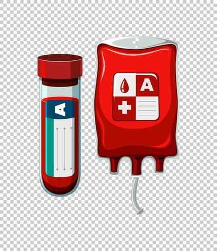 Sang dans le tube et le sac
