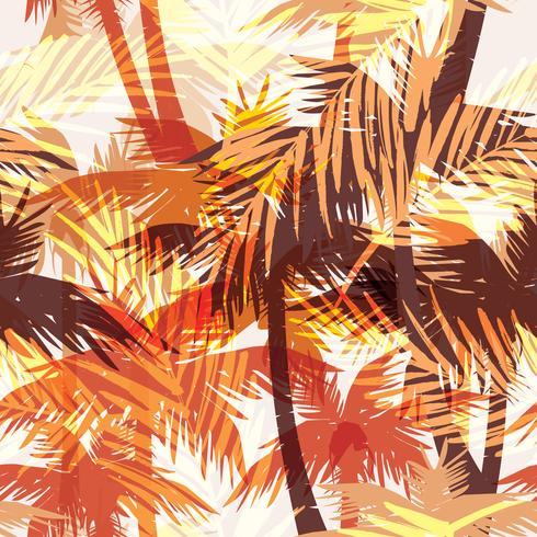 Tropischer Sommerdruck mit Palme.