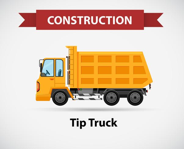 Icona di costruzione per camion di punta vettore