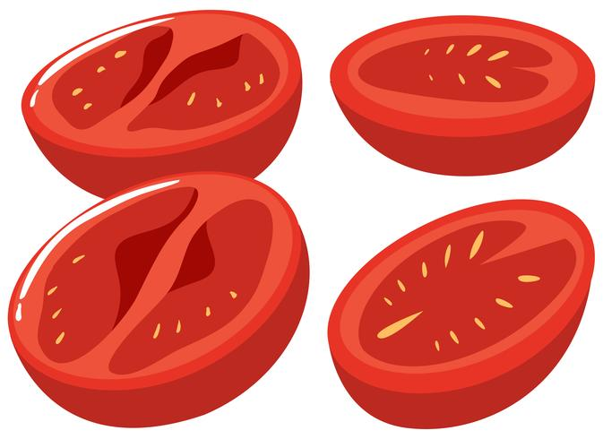Slices of fresh tomatoes