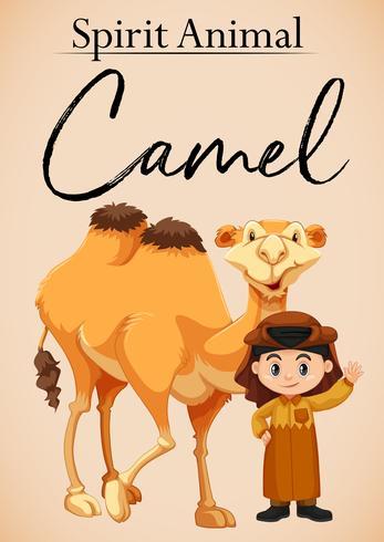Um espírito animal camelo
