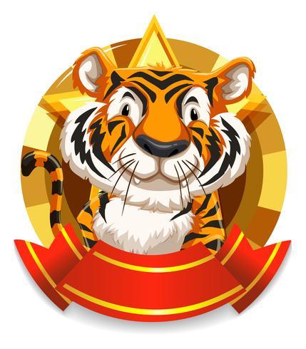 Banner design com tigre selvagem