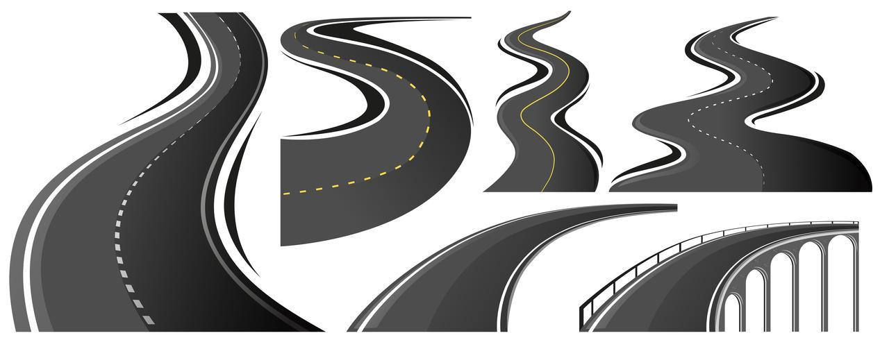 Verschillende vorm van wegen