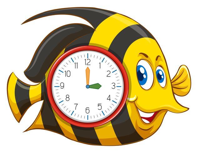 Süßes Fischthema Uhr