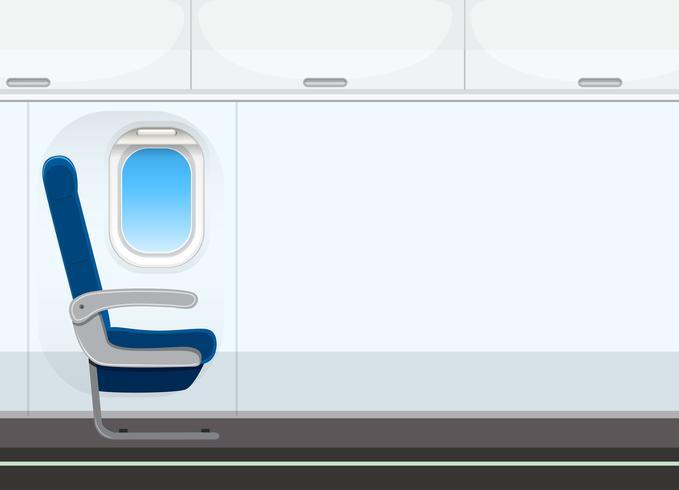 Fundo de cabine de avião vazio