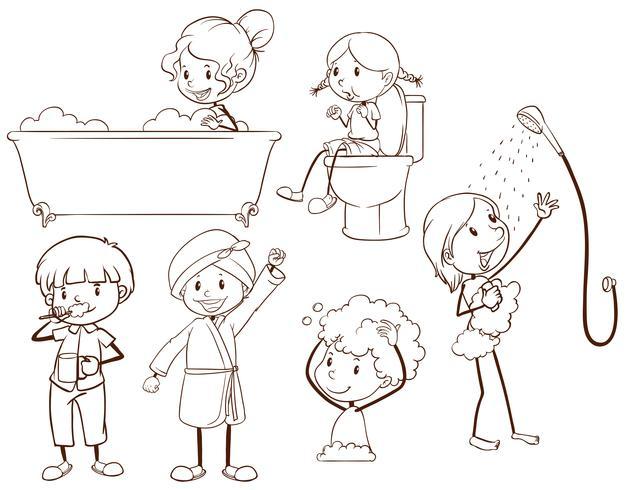 Niños preparando