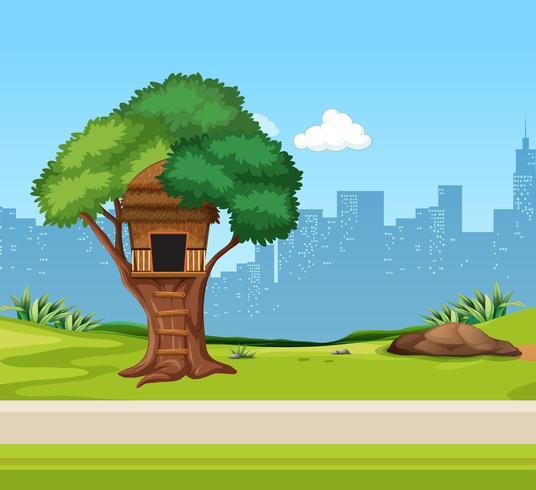 Una casa sull'albero nel parco