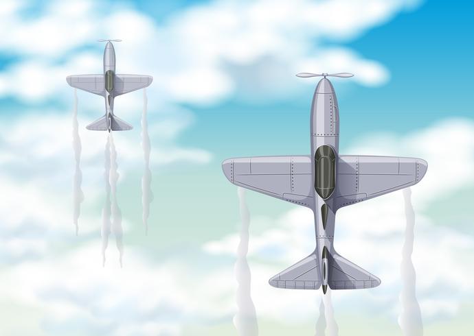 Luchtmening van twee vechtstralen