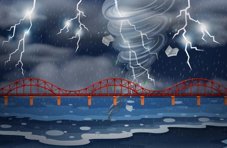 Un ciclón y una tormenta eléctrica.