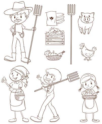 Landwirte und Tiere