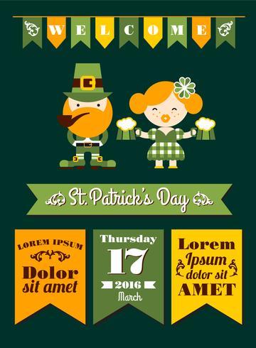 Saint Patrick's Day. Vector flat illustration.