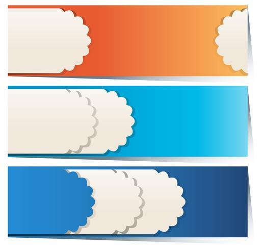 Design de etiquetas em três cores