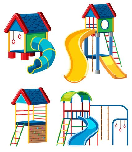 Jogo, de, equipamento playground