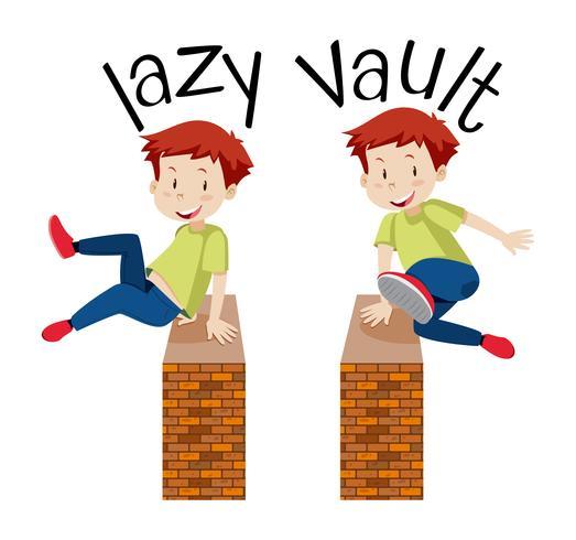 Um, menino, pular, um, parede