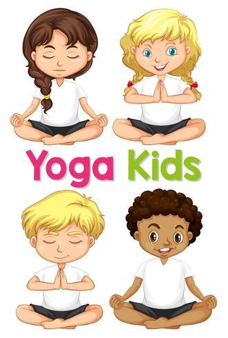 Ensemble de yoga enfants