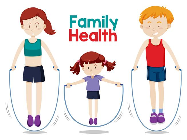 Family doing workout together - Download Free Vector Art, Stock Graphics & Images