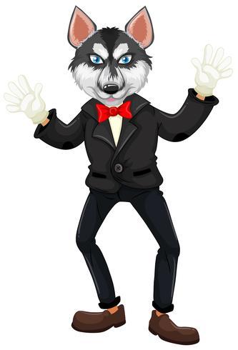 A dog wearing tuxedo vector