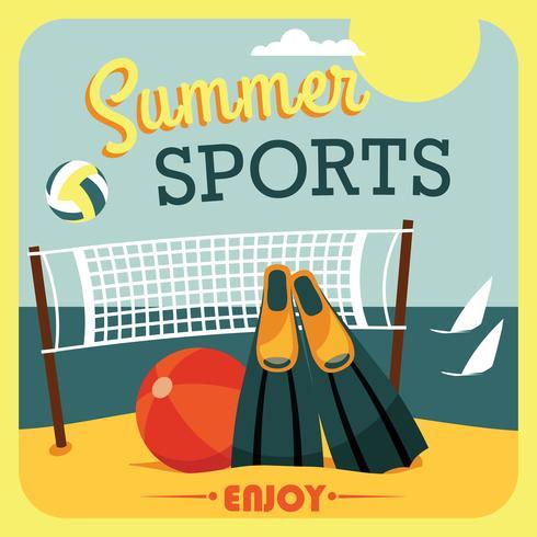 Illustrazione vettoriale di vacanze estive attive.