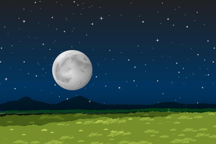 Natuurlandschap 's nachts