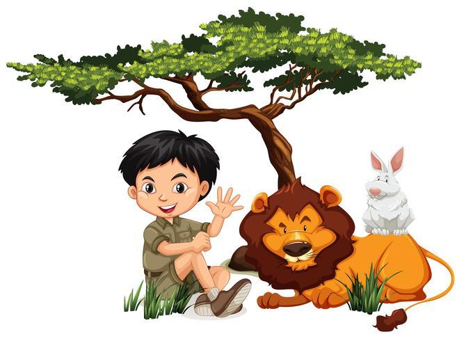 A c y animales salvajes