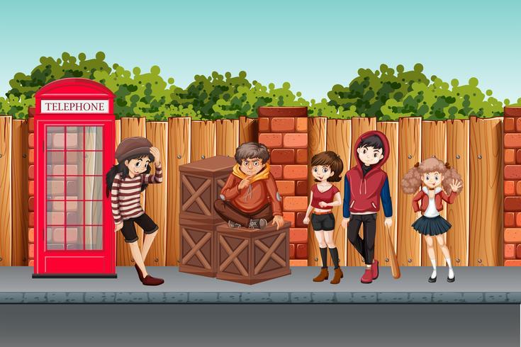 Street tonåring i stan