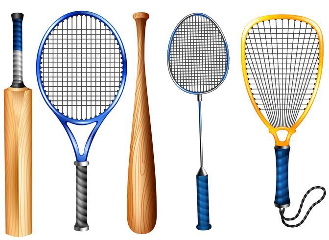 Raquetes e bastão