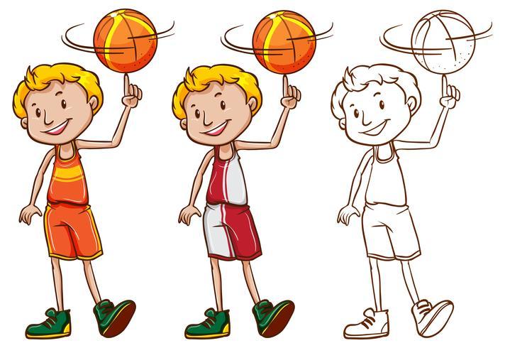 Drafting character per il giocatore di pallacanestro