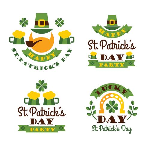 Typografische Saint Patricks Day Design.