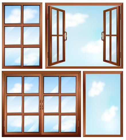 Olika fönsterdesigner