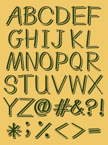 Hoofdletters van het alfabet