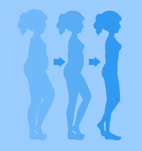 Um jovem perder peso vetor