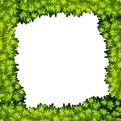 Ein grüner Blattrahmen