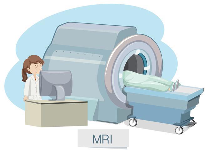 Scansione MRI su sfondo bianco