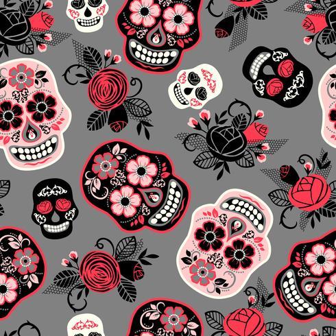 Dia de los muertos Dia de los Muertos. Patrón sin costuras vector