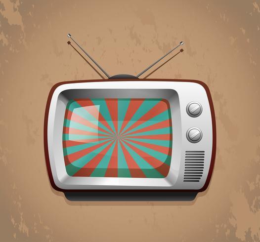 Televisión retro sobre fondo grunge