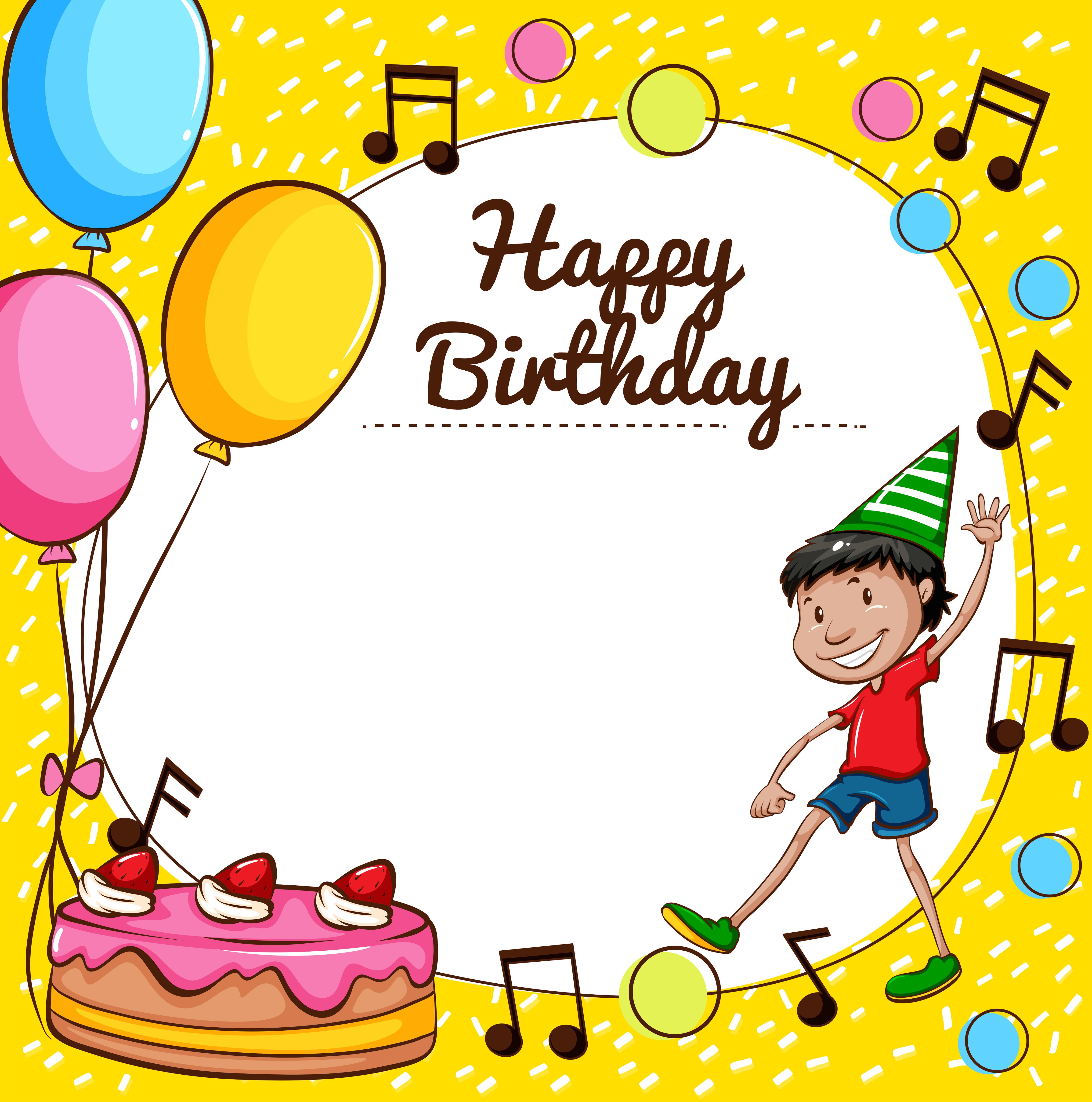 happy birthday template free vector art