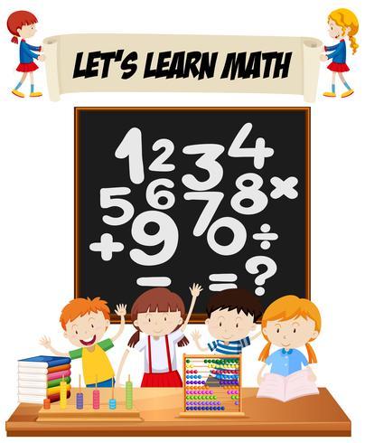 Studenten leren wiskunde in de klas