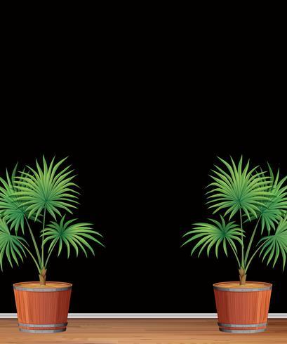 Dekorative Innenpalme-Baumschablone