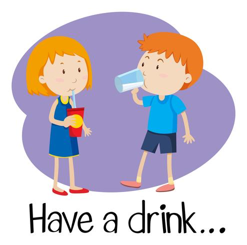 Wordcard für ein Getränk