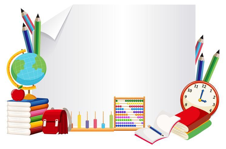 Estandarte de papel con elemento de aprendizaje.